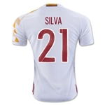 Spain 2016 SILVA Away Soccer Jersey