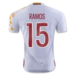 Spain 2016 RAMOS Authentic Away Soccer Jersey