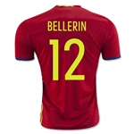 Spain 2016 BELLERIN Home Soccer Jersey