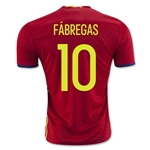 Spain 2016 FABREGAS Home Soccer Jersey
