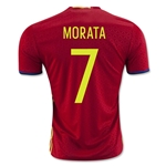 Spain 2016 MORATA Home Soccer Jersey