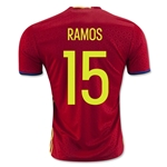 Spain 2016 RAMOS Home Soccer Jersey
