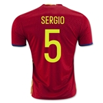 Spain 2016 SERGIO Home Soccer Jersey