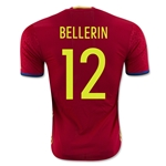 Spain 2016 BELLERIN Authentic Home Soccer Jersey