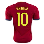 Spain 2016 FABREGAS Authentic Home Soccer Jersey