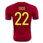 Spain 2016 ISCO Authentic Home Soccer Jersey