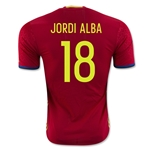 Spain 2016 JORDI ALBA Authentic Home Soccer Jersey