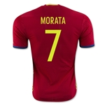 Spain 2016 MORATA Authentic Home Soccer Jersey