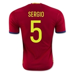 Spain 2016 SERGIO Authentic Home Soccer Jersey