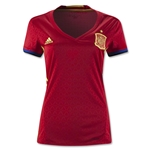 Spain 2016 Women's Home Soccer Jersey