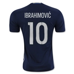 Sweden 2016 IBRAHIMOVIC Away Soccer Jersey