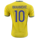 Sweden 2016 IBRAHIMOVIC Home Soccer Jersey