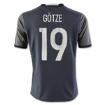 Germany 2016 GOTZE Youth Away Soccer Jersey