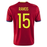 Spain 2016 RAMOS Youth Home Soccer Jersey