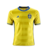 Sweden 2016 Youth Home Soccer Jersey