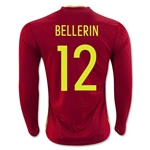 Spain 2016 BELLERIN LS Home Soccer Jersey