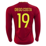 Spain 2016 DIEGO COSTA Home Soccer Jersey