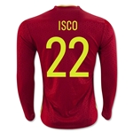Spain 2016 ISCO LS Home Soccer Jersey