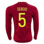 Spain 2016 SERGIO LS Home Soccer Jersey