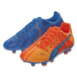 Puma evoPower 3.2 H2H FG JR (Orange Clownfish/Electric Blue Lemonade)