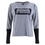 PUMA Women's LS Top (Gray)