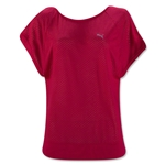 PUMA Women's Burnout Layer T-Shirt (Red)