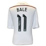 Icons Gareth Bale Real Madrid Home 14/15 Back Signed Jersey
