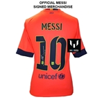 Icons Messi Barcelona Away 14/15 Back Signed Jersey