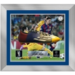 Icons UEFA Champions League Messi Signed and Framed Cleat