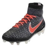 Nike Women's Magista Obra FG (Black/Bright Crimson)