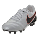 Nike Junior Tiempo Legend VI FG (Pure Platinum/Black)
