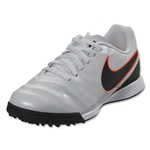Nike Junior Tiempo Legend VI TF (Pure Platinum/Black)