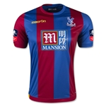 Crystal Palace 15/16 Home Soccer Jersey w/ FA Cup Patch
