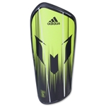 adidas Messi10 Pro-Semi Solar Shinguard (Slime/Black)