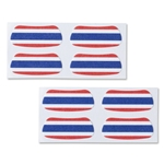 Thailand Flag Eyeblacks 4 Pair