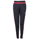 adidas Women's Tiro 15 Training Pant (Red)