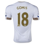 Swansea City 15/16 GOMIS Home Soccer Jersey