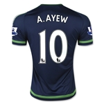 Swansea City 15/16 A. AYEW Away Soccer Jersey