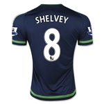 Swansea City 15/16 SHELVEY Away Soccer Jersey