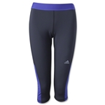 adidas Women's TechFit Capri Tight (Blk/Pur)