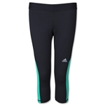 adidas Women's TechFit Capri Tight (Bk/Tl)