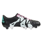 adidas X 15.1 FG/AG Leather (Black/Shock Mint)