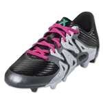 adidas X 15.3 FG/AG Junior (Black/Shock Mint/White)