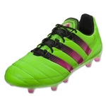 adidas Ace 16.1 FG/AG Leather (Solar Green/Shock Pink/Black)