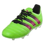 adidas Ace 16.1 FG/AG Junior Leather (Solar Green/Shock Pink/Black)