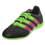 adidas ACE 16.3 IN Junior (Black/Shock Pink/Solar Green)