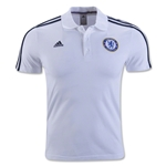 Chelsea adidas 3-Stripe Polo (White)