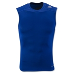 adidas TechFit Base Layer Sleeveless T-Shirt (Royal Blue)