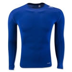 adidas TechFit Base Layer Long Sleeve T-Shirt (Royal Blue)