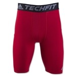 adidas TechFit Base Layer 9 Short Tight (Red)